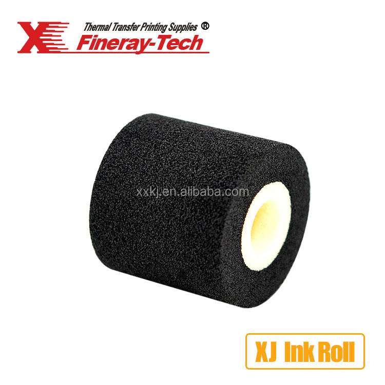 Fineray miếng bọt biển màu đen XJ XF Hot rắn khô chảy mực lăn coder mã hóa nóng lá cho máy dán nhãn