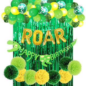 Dinosaurier Banner ROAR brief folie latex konfetti Luftballons grün vorhang, Kinder Dinosaurier Geburtstag Party favors Supplies