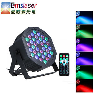 DMX512 36 LED RGB DJ Disco Par light with remote control