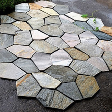 Natural slate products rusty flagstone mat cheap price and good quality flagstone mat
