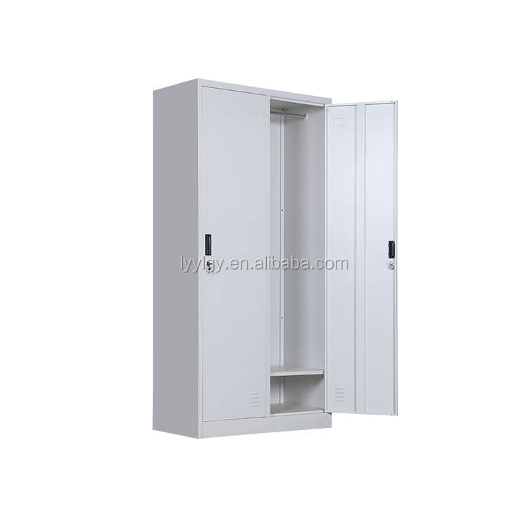 Hot selling KD couple 2 Door Metal stainless steel gym locker