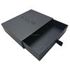 custom printed different shaped black magnetic cardboard luxury jewelry matte black elegant gift packaging drawer box