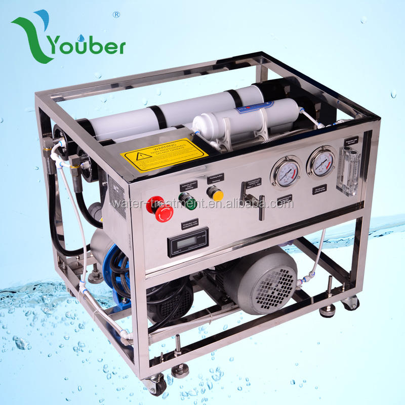 1000L/day Portable Seawater Desalinator for floating house drinking water, outdoor water desalination