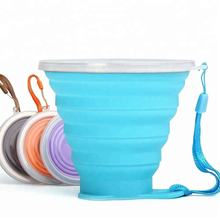 Colorful Silicone Folding Telescopic Travel Collapsible Coffee Cup