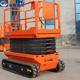 2 Years Warranty [ 10m Lift ] All Terrain Scissor Lift 6m 8m 10m 350kg Automatic Control System Electric All Terrain Used Track Hydraulic Scissor Lift Rental With CE ISO Certification