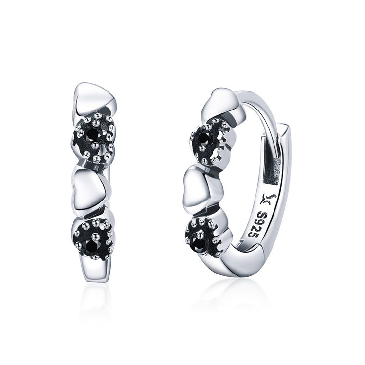 패션 마음입니다 데이트 Hoop Earrings 925 Sterling Silver Earrings 대 한 Girls