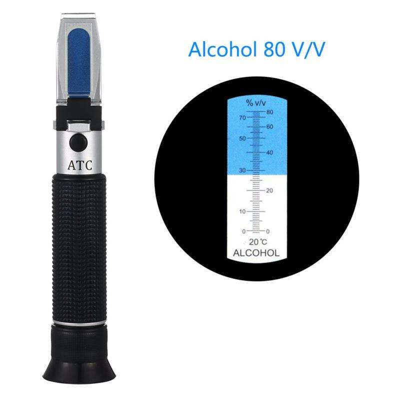 Wine Making Kit Xindacheng Refractometer for Grape Wine Brewing Measuring Sugar Content in Original Grape Juice and Predicting the Wine Alcohol Degree Dual Scale of 0-40/% Brix /& 0-25/% vol Alcohol