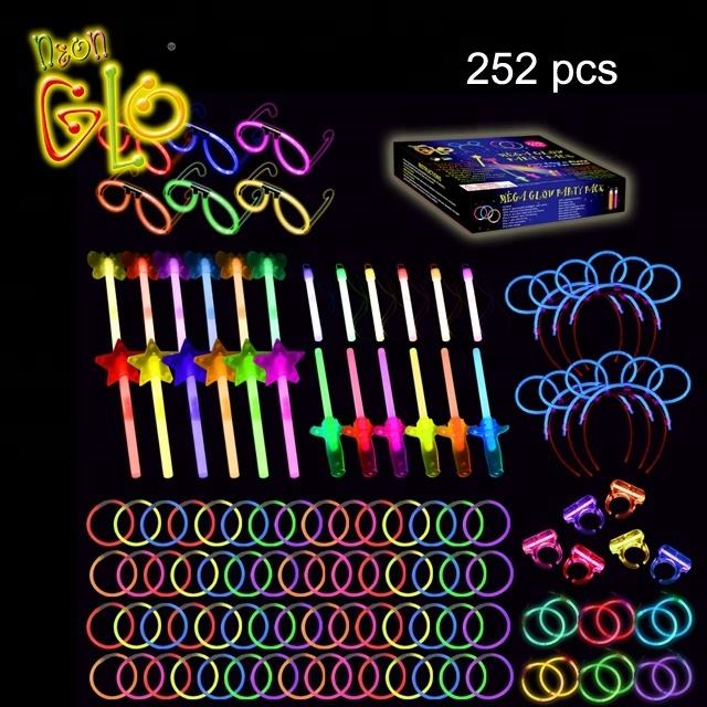 252 Pcs Glow Stick Party Pack Wedding Gift