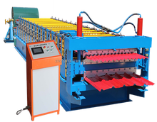 double layers metal sheets roofing machine, tile making machine Corrugated and Trapezoid Roofing Tile roll forming Machine