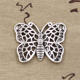 15MM butterfly animal charms pendant antique Tibetan silver alloy pendant charms for earing making