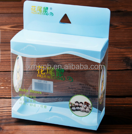 2018 Wholesale folding Transparent PVC PET plastic small souvenir gift packaging box