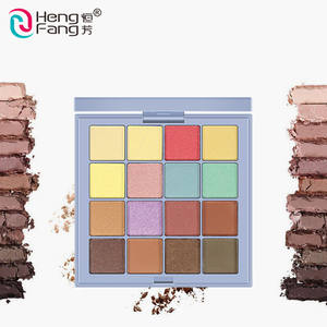 Wholesale Private Label Rich 16 Colors Cosmetic Waterproof Custom Makeup Glitter Eyeshadow Palette
