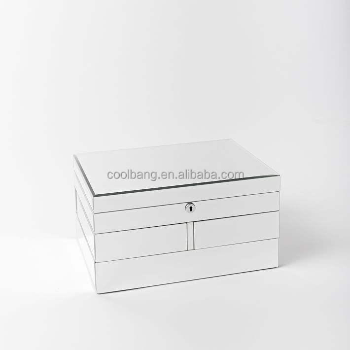 Coolbang CBM117 rotatable mirrored drawer jewellery box with locks