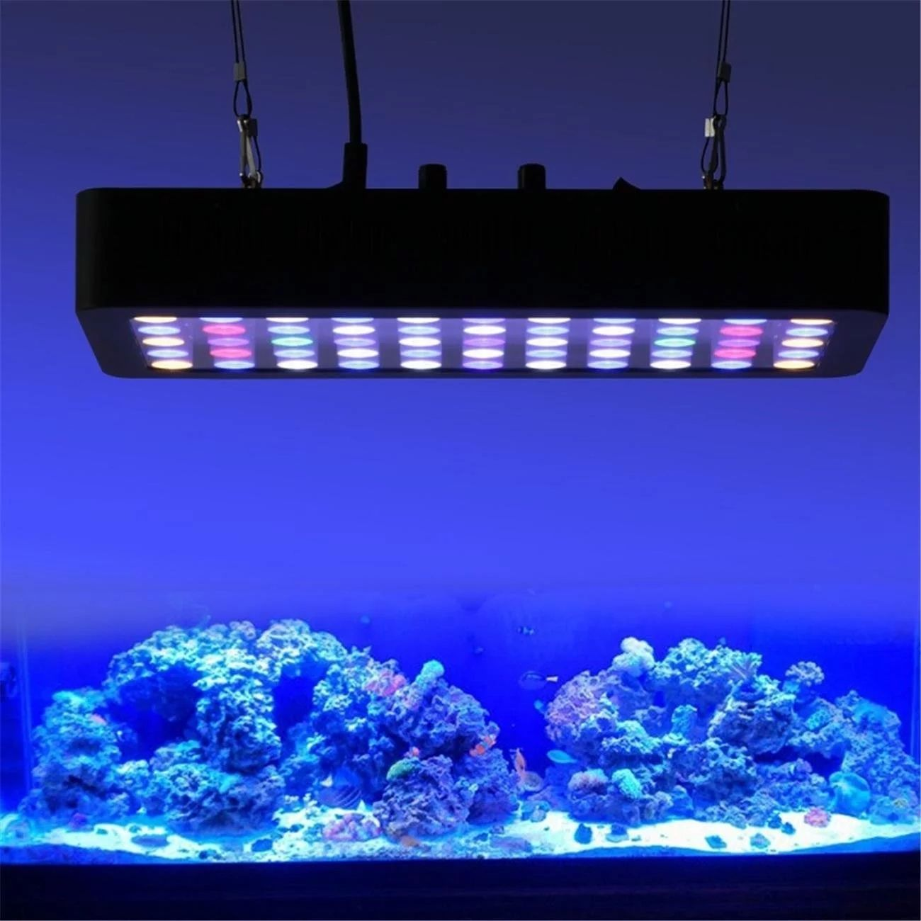 Chinaサプライヤーホット販売WiFi 165ワット調光対応アプリControl LED Aquarium Light Full Spectrum Coral Reef Marine水槽