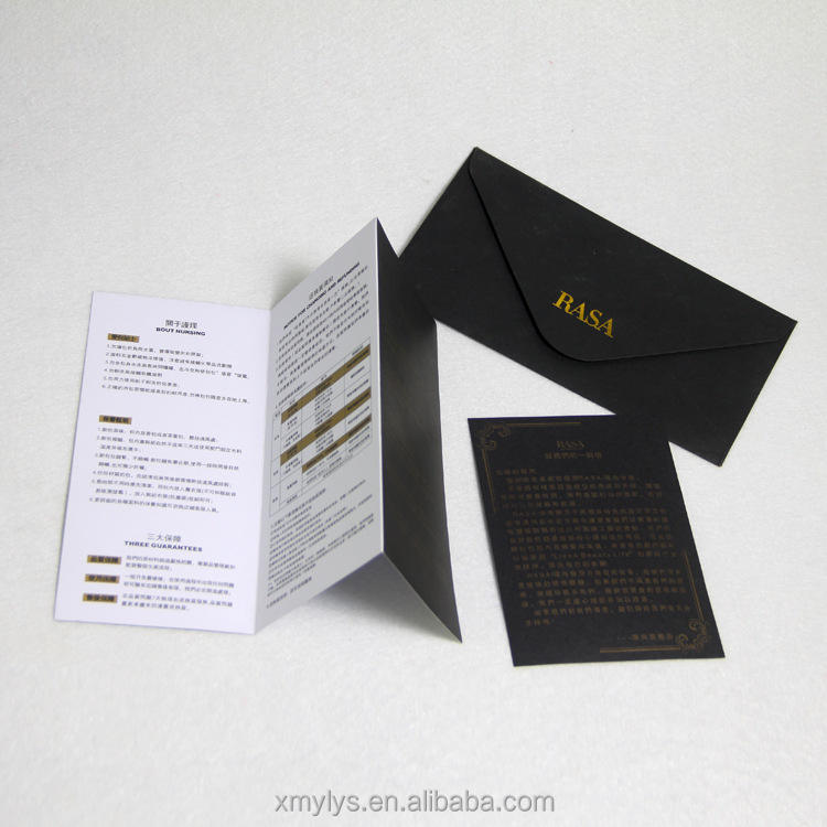 Custom Paper Brochure / Booklet / Flyer / Catalog Printing With Gold Foiling Logo Stamping