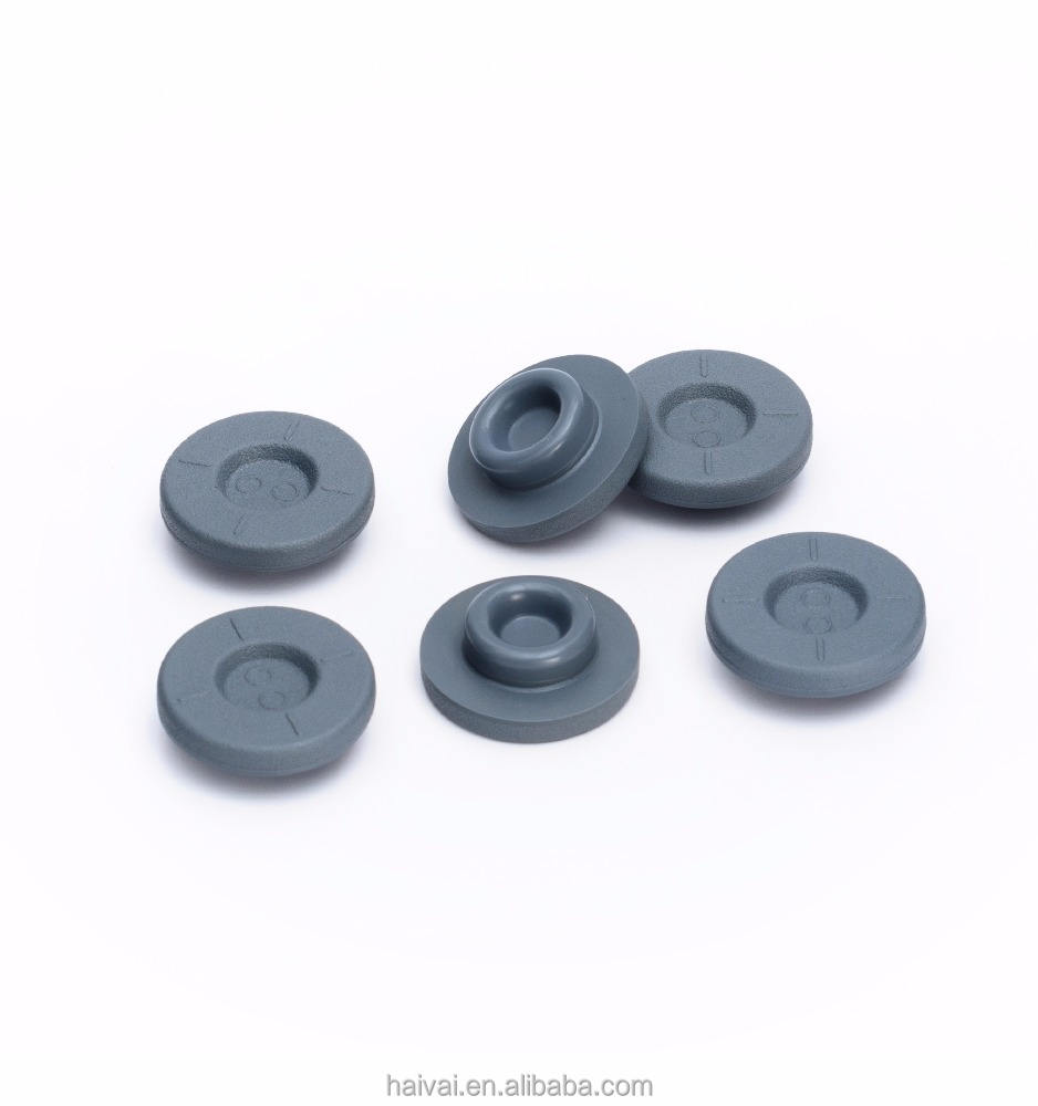 good quality upgrading bromo/chloro butyl 20mm PET coated rubber stopper for injection