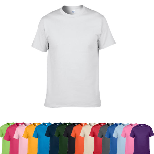 High Quality Blank T-Shirt 100% Cotton Plain T Shirt With 16 Colors For You Selection