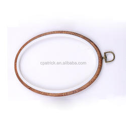 high quality factory price wood imitation oval embroidery hoop