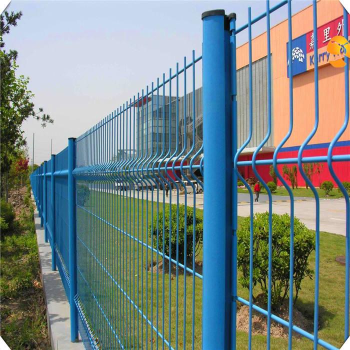 Высокий уровень безопасности ограждения 3D изгиб сварной забор сетка забора завода
