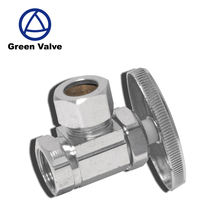 Gutentop GT2927 3/8 in. FIP x 1/2 in. Chrome Plated Brass Compression Angle Stop Valve