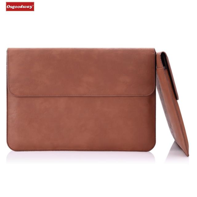 Osgoodway дюймов 13,5 дюймов рукав сумка, искусственная кожа Защитный PC тетрадь чехол для поверхности ноутбука