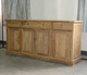 antique style oak reclaimed wood sideboard