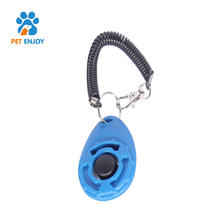 Dog clicker for training with wrist strap 2 in 1 dog clicker whistle