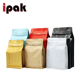 Custom Printed 1kg Flat Bottom Box Pouch 500g Coffee Bag With Degassing Valve