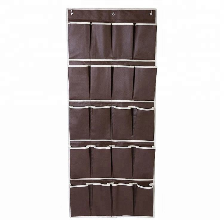 Large sturdy 24 shoe storage hanging organizer with 4 steel door hooks