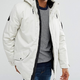 2018 Men's new style fashion hooded padded long white puffer coat