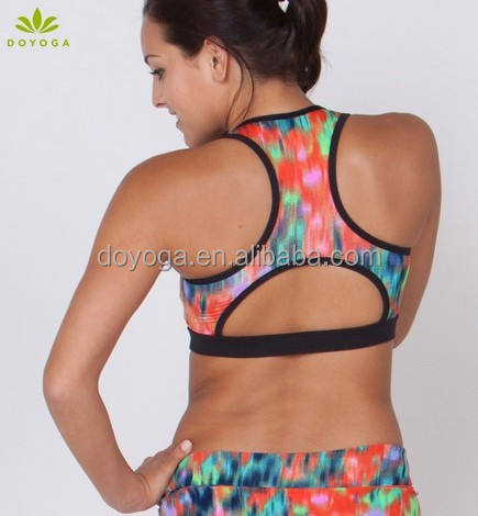 hot fantastic sublimation fitness ladies sexy net bra sets