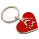 Custom souvenir red enamel metal paris heart shape keychain for gifts