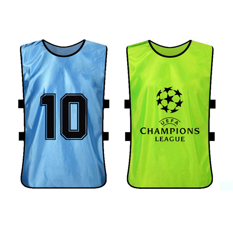 Wholesale custom numberd sports bibs for soccer game
