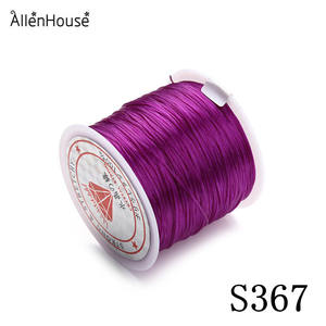 1mm purple Clear Stretch TPU Elastic Crystal Line Thin Jewelry Making Beading Cord String Wire/Cord/String/Thread