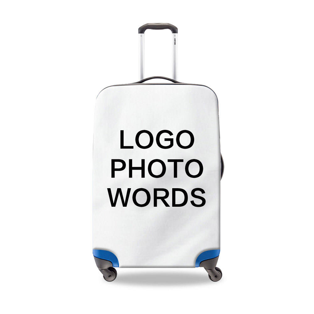 Spandex luggage cover customized logo printed suitcase cover for traveling