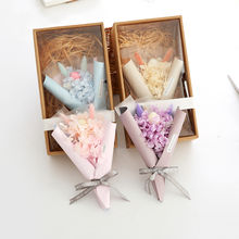 Hydrangea bouquets of eternal life insurance natural dried flowers gift box Christmas gift gift ins photo props
