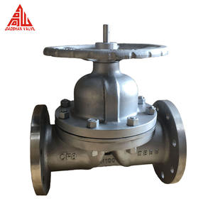 Manual Cast Iron Rubber Lined PTFE Lined Weir Type Flanged Pneumatic Carbon Steel Diaphragm Valves