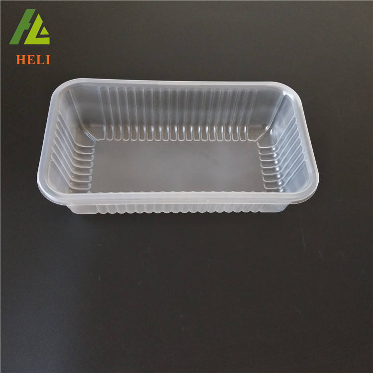 Highly transparency plastic containers for frozen food packaging