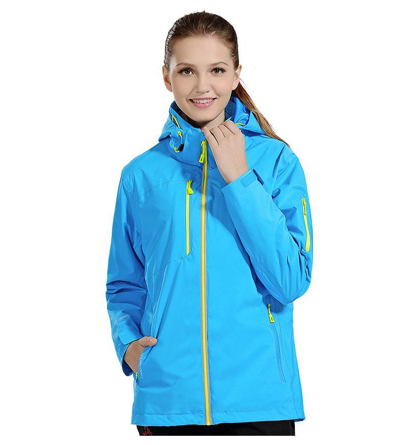 Wholesale hiking waterproof women outdoor clothing raincoat waterproof 3 in 1 jacket