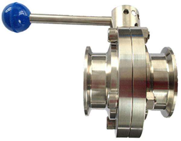 Stainless Steel 304 316L Tri Clamp Manual Sanitary Butterfly Valve With Different Types of Handle