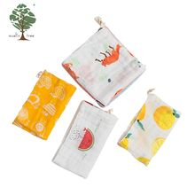 Muslin tree brand Free sample wholesale custom embroidered soft cotton wash cloth towel baby handkerchief