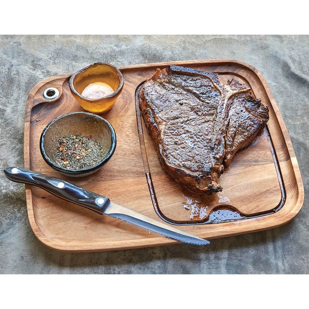 Acacia Wood steak board Plate Board for Steak Serving