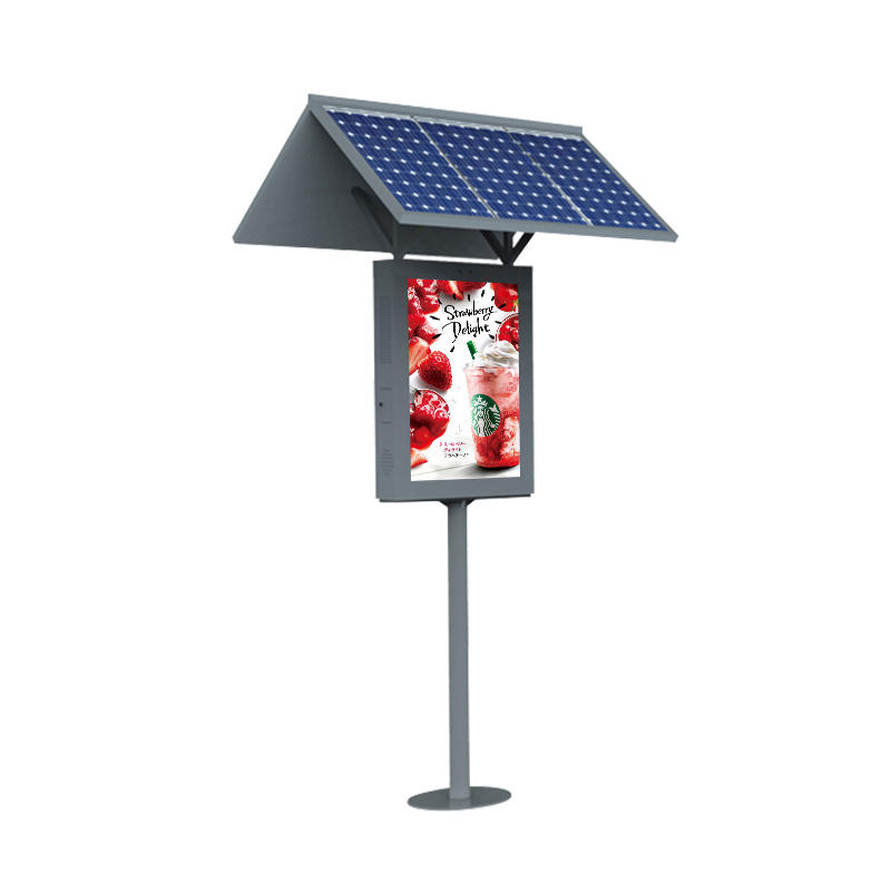 Solar Powered Sunlight Readable Digital Advertising Display Board, Ip65 Digital Signage Lcd Display Advertising Monitor