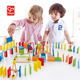 Hape Brand Educational Build The Domino Trail Funny Wood Domino Blocks Set