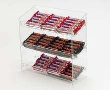 3 tiers acrylic chocolate counter display/chocolate display rack/chocolate bar display stand