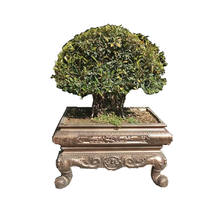 Exquisite ornamental Chinese style antique precast concrete pot plant bonsai mold for home office and company