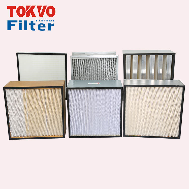 Heating Ventilation and Conditioning industrial pleated paper panel dust collector hepa filter paper