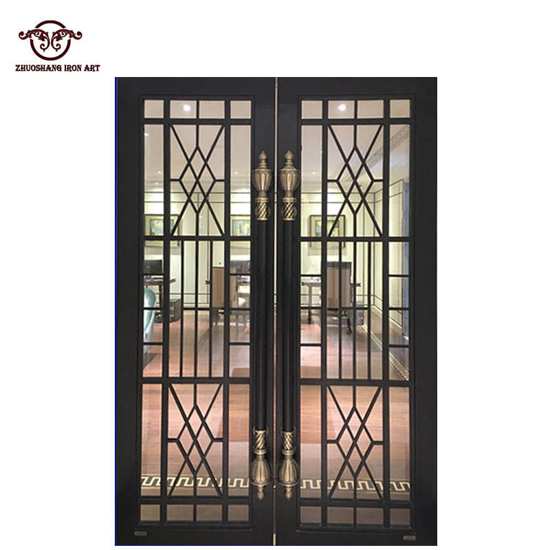 Hand forged Wrought Iron Double entry door front entry door Designs
