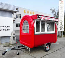 2018 food truck mobile food cart, mobile juice bar, camping trailer mini caravana food truck made in Thailand