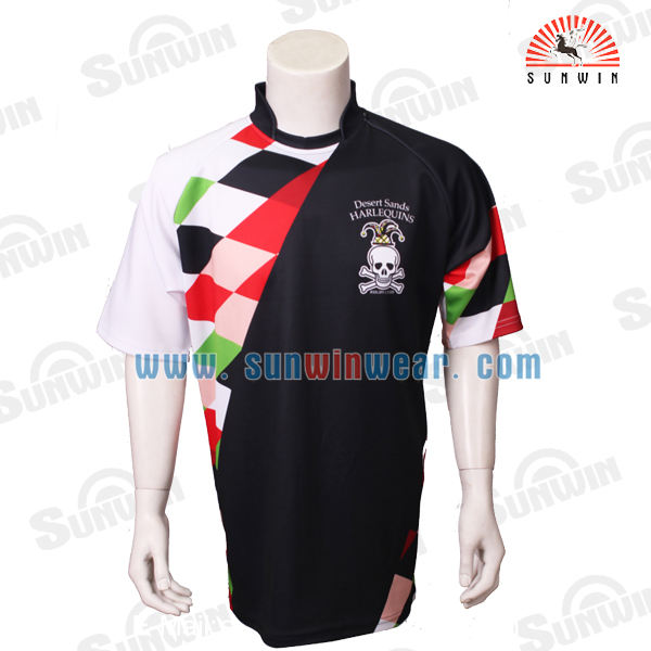 Team set rugby jersey and shorts sublimation